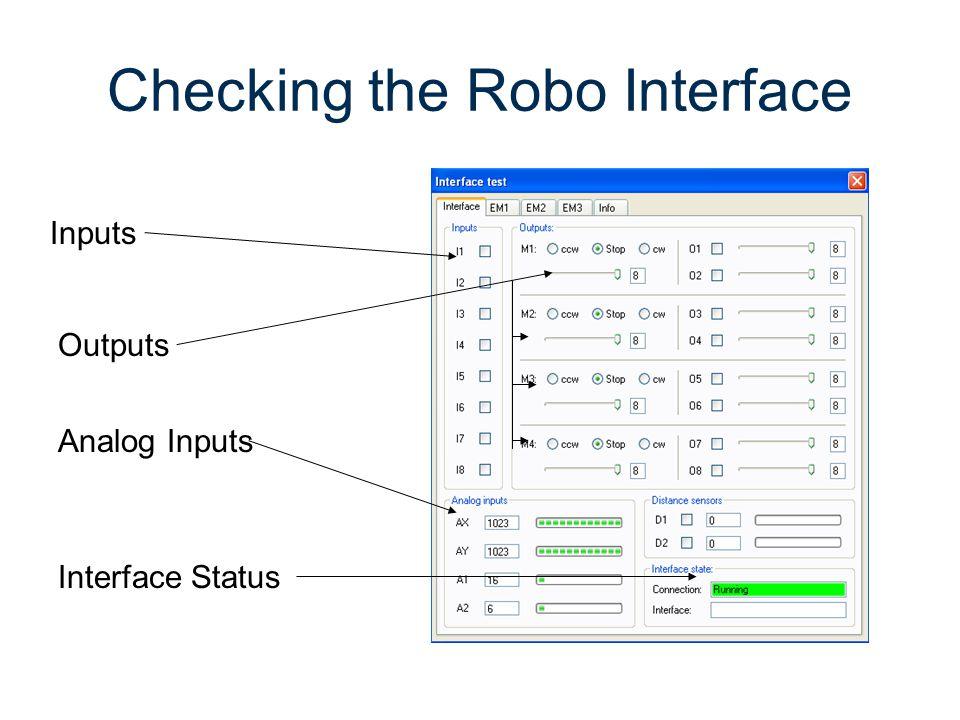 Checking the Robo Interface