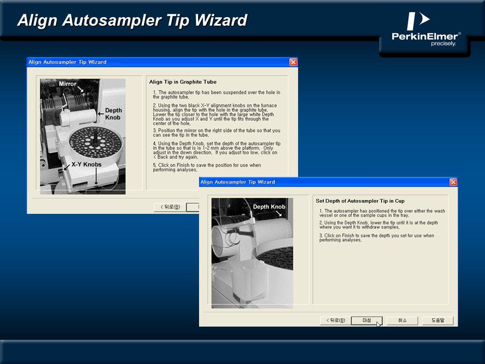 Align Autosampler Tip Wizard