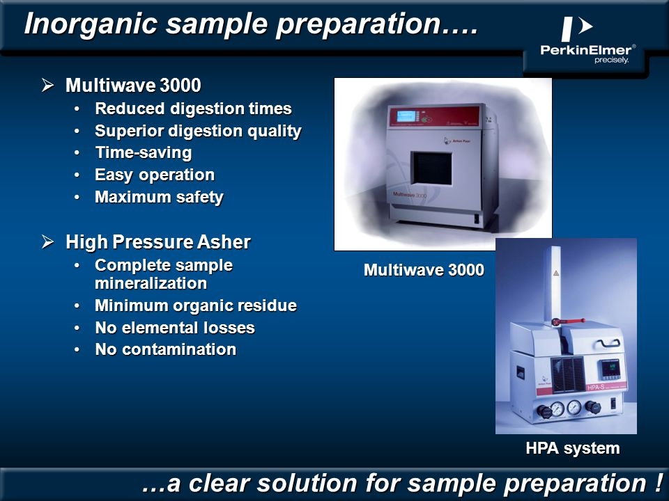 Inorganic sample preparation….