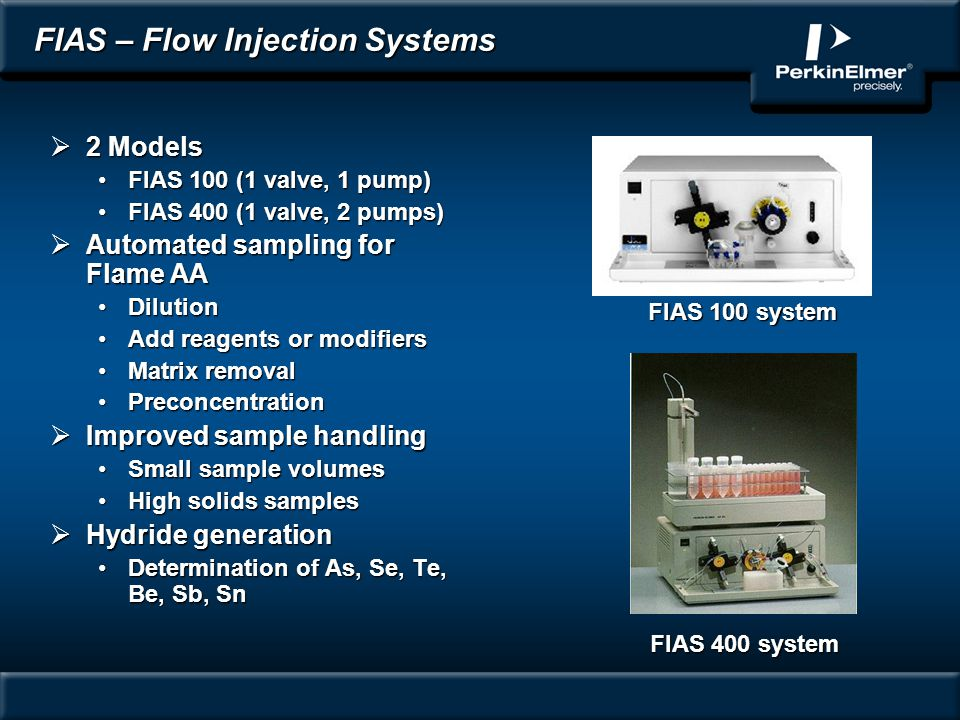 FIAS – Flow Injection Systems