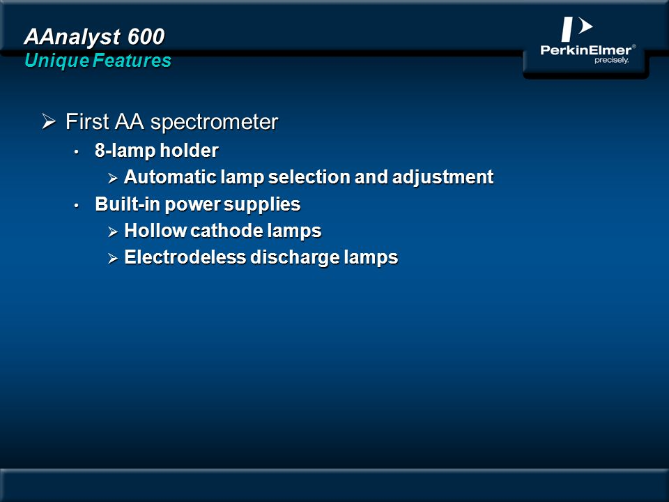 AAnalyst 600 Unique Features