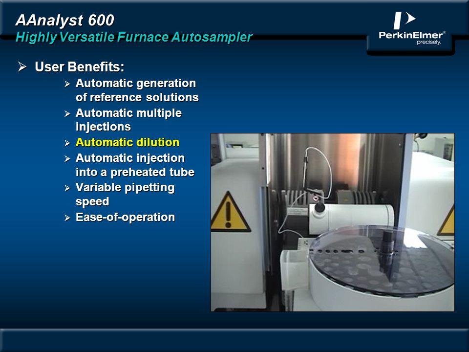 AAnalyst 600 Highly Versatile Furnace Autosampler