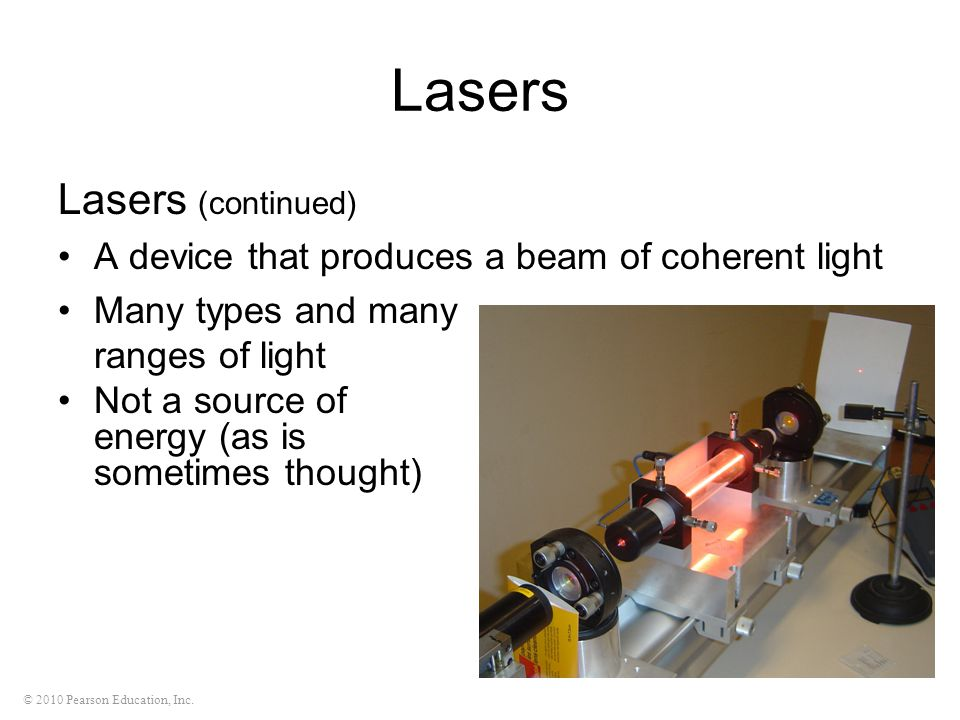 Lasers Lasers (continued)