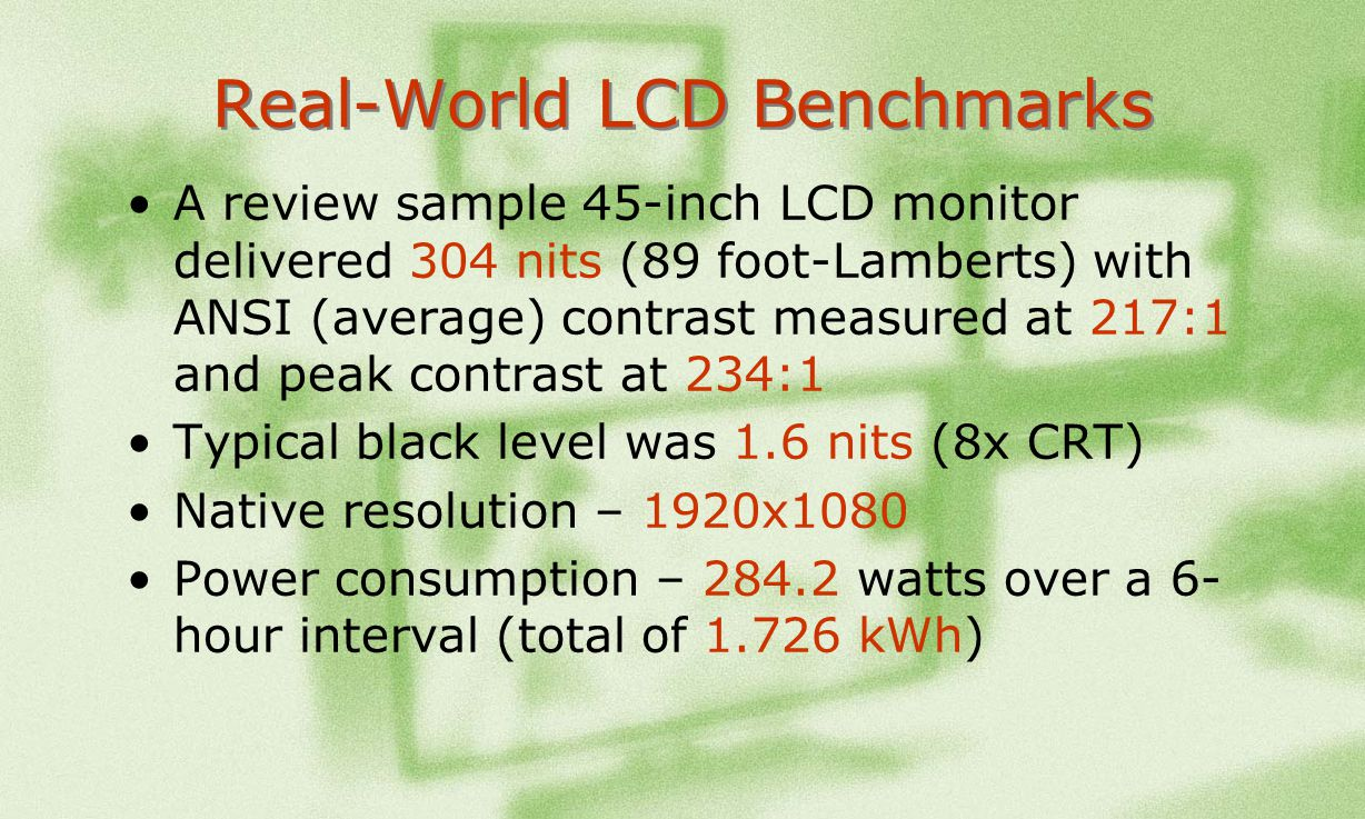 Real-World LCD Benchmarks