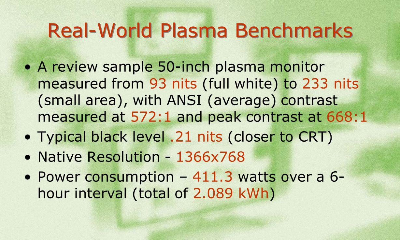 Real-World Plasma Benchmarks