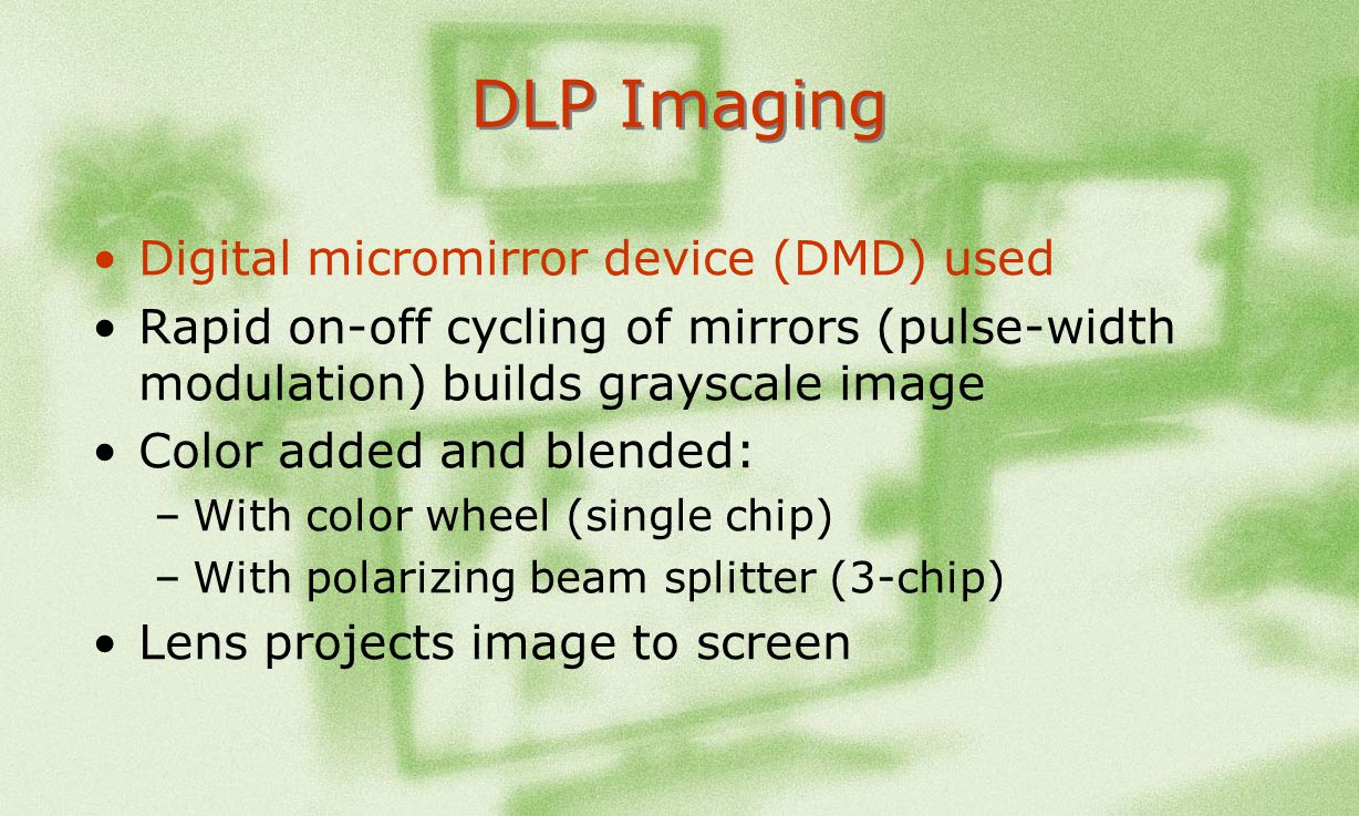 DLP Imaging Digital micromirror device (DMD) used