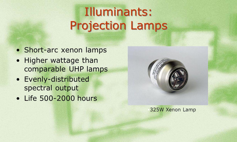 Illuminants: Projection Lamps