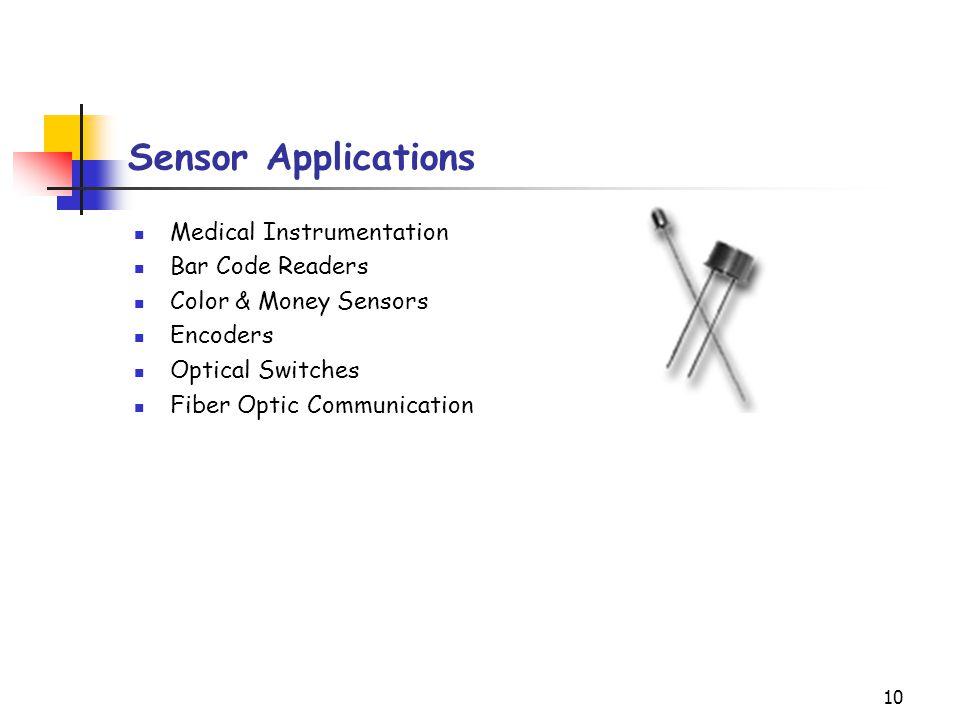 Sensor Applications Medical Instrumentation Bar Code Readers