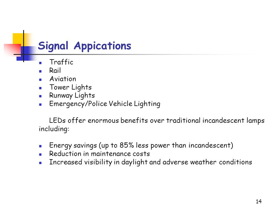 Signal Appications Traffic Rail Aviation Tower Lights Runway Lights