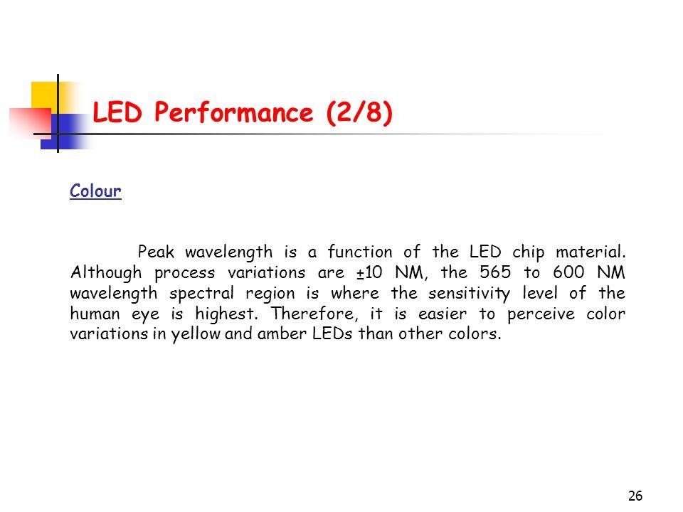 LED Performance (2/8) Colour