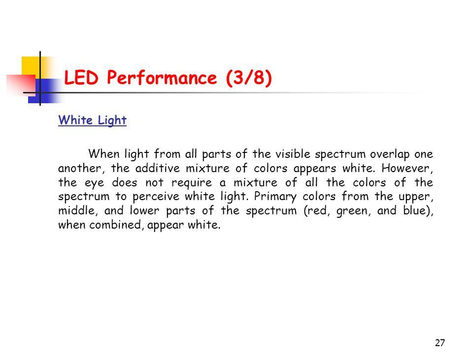 LED Performance (3/8) White Light
