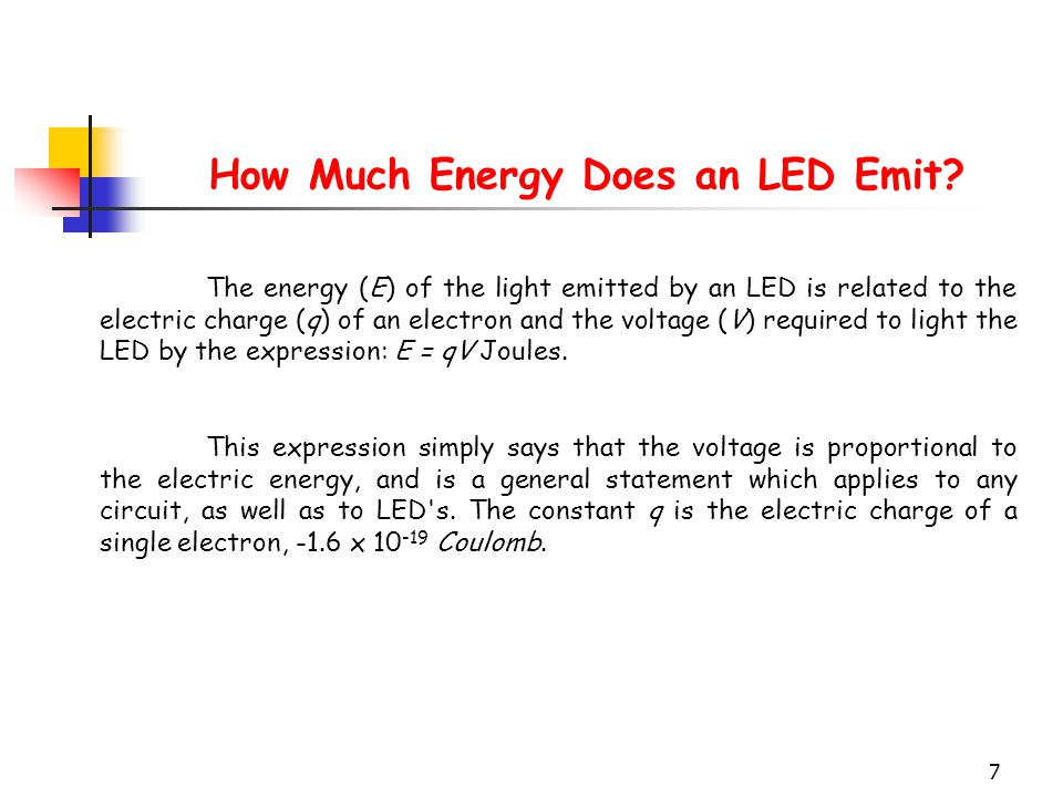 How Much Energy Does an LED Emit