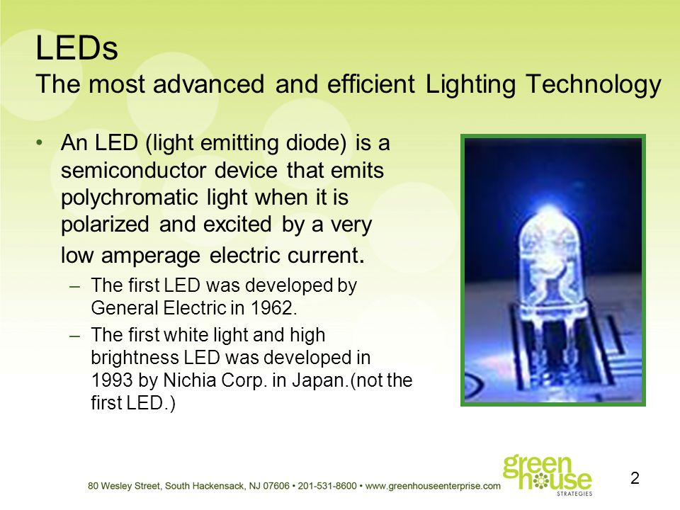 LEDs The most advanced and efficient Lighting Technology