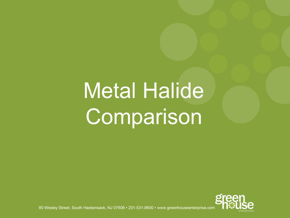 Metal Halide Comparison