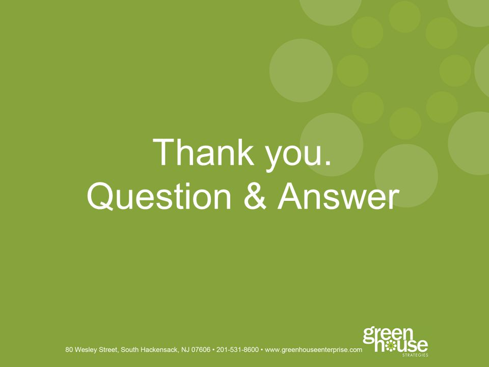 Thank you. Question & Answer