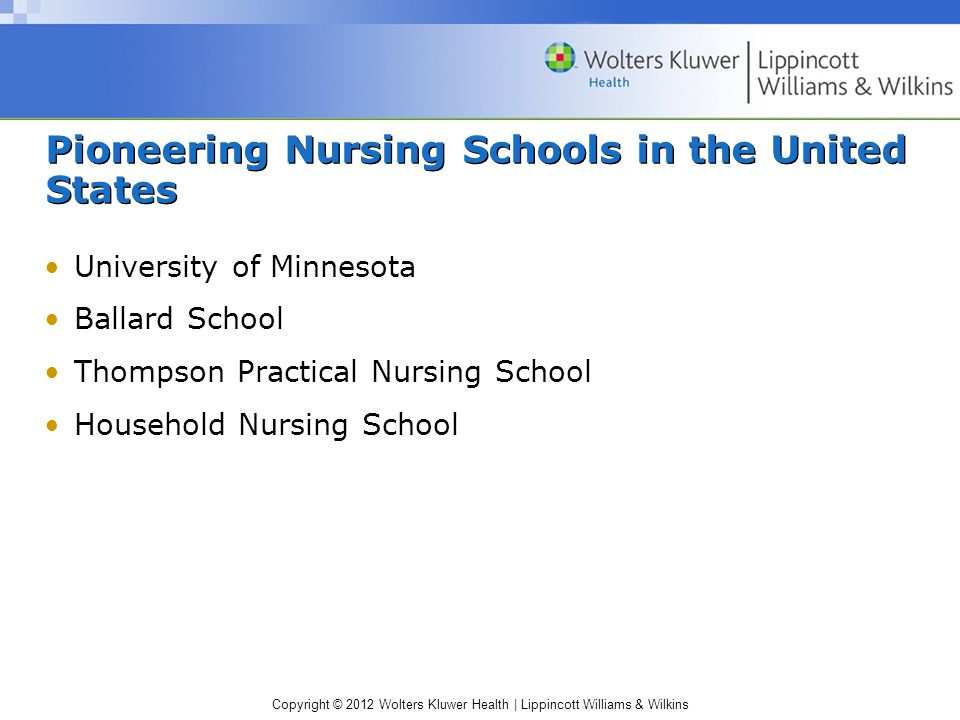 Pioneering Nursing Schools in the United States