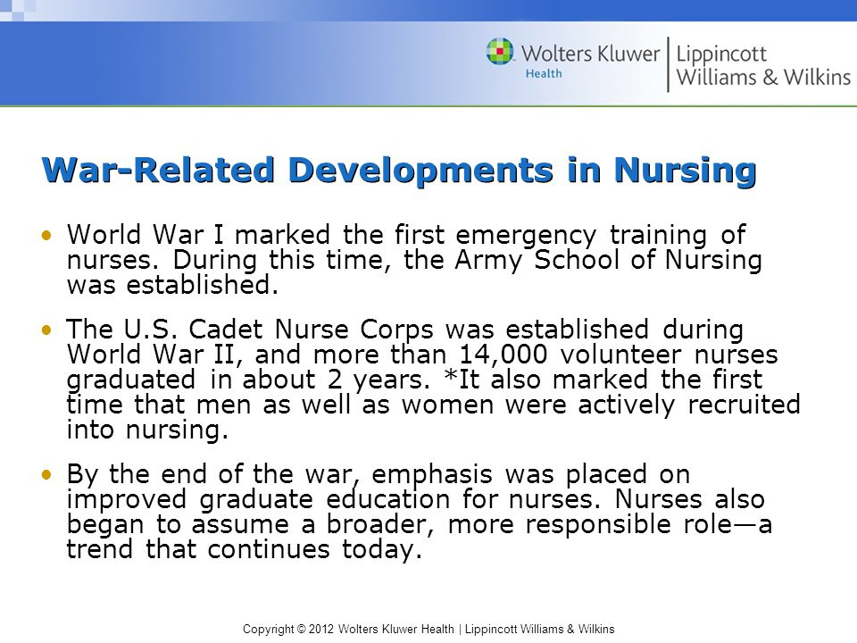 War-Related Developments in Nursing