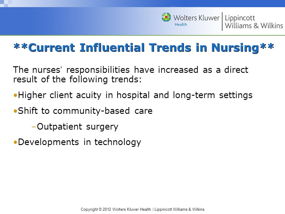 **Current Influential Trends in Nursing**