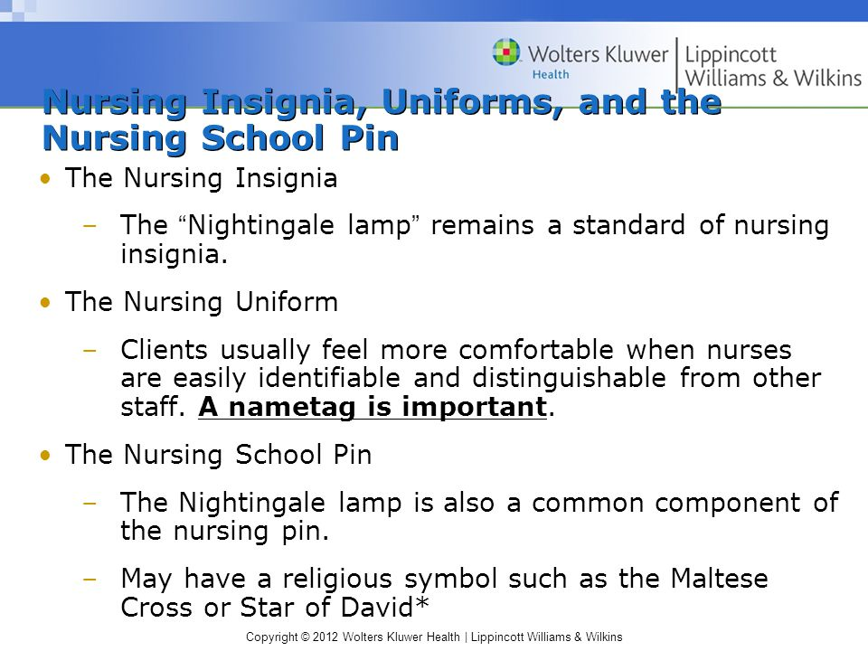 Nursing Insignia, Uniforms, and the Nursing School Pin