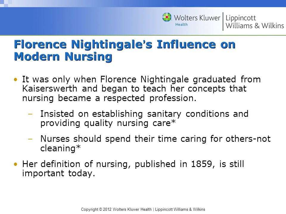 Florence Nightingale's Influence on Modern Nursing