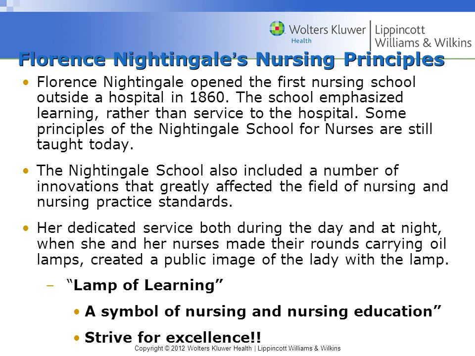 Florence Nightingale's Nursing Principles