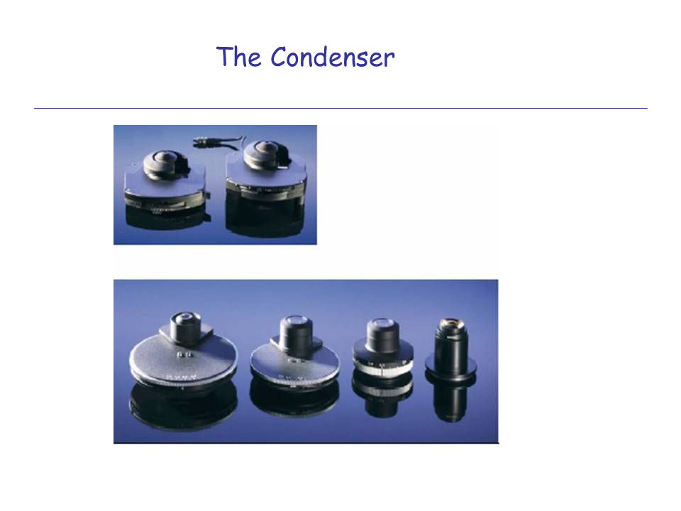 The Condenser Why do we need a condenser and what does it essentially do >
