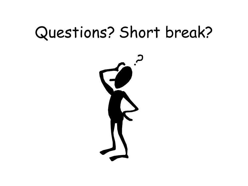 Questions Short break