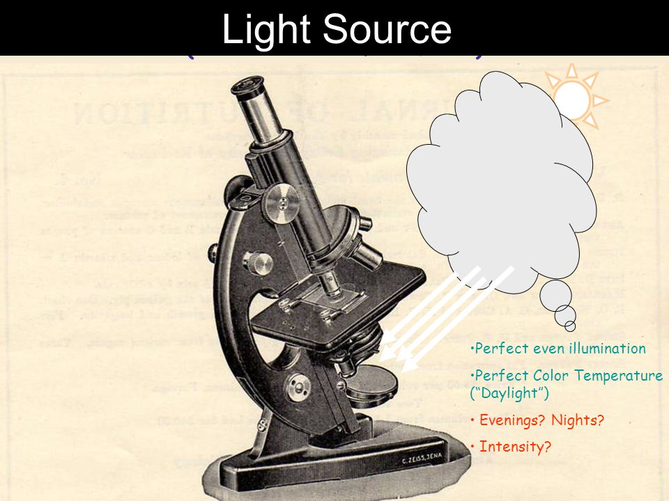 Light Source for a typical Laboratory Microscope (late 1800's to mid 1900's)