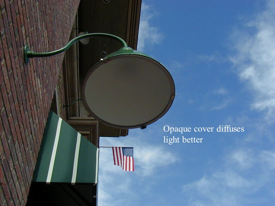 Opaque cover diffuses light better