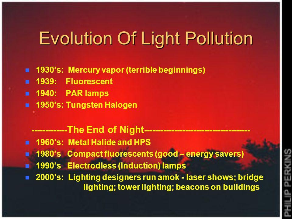 Evolution Of Light Pollution
