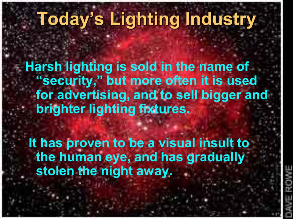 Today's Lighting Industry