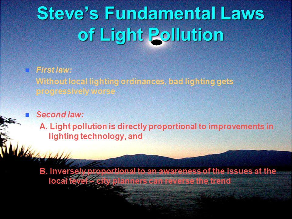 Steve's Fundamental Laws of Light Pollution