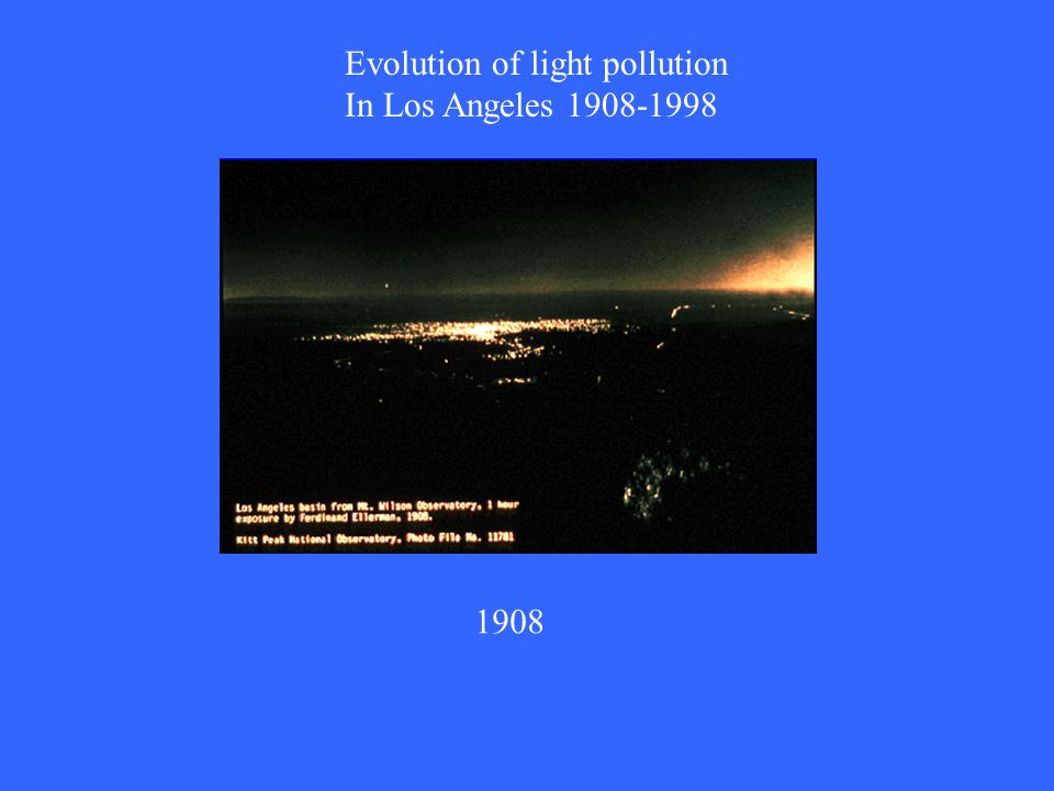 Evolution of light pollution