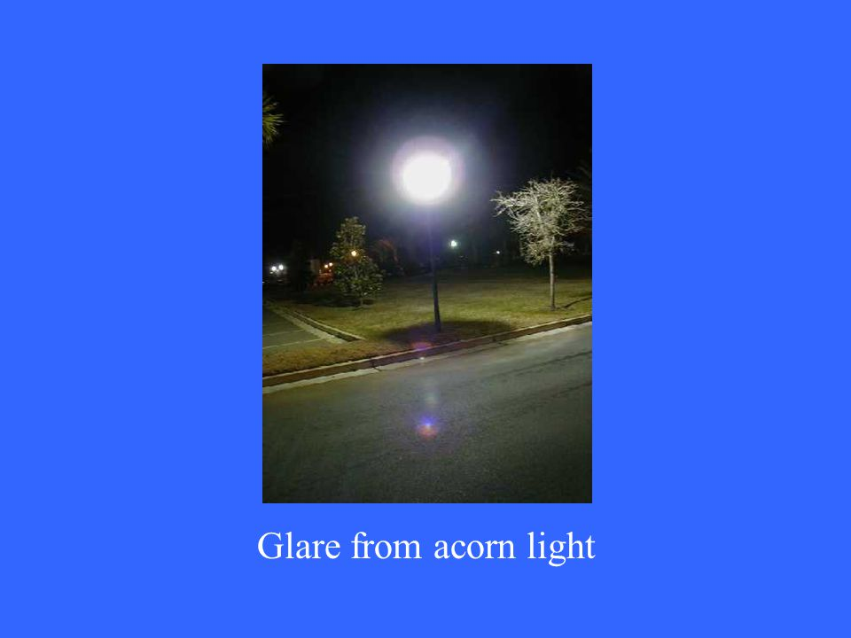 Glare from acorn light
