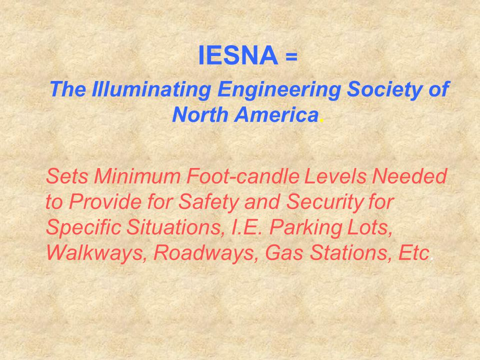 The Illuminating Engineering Society of North America.