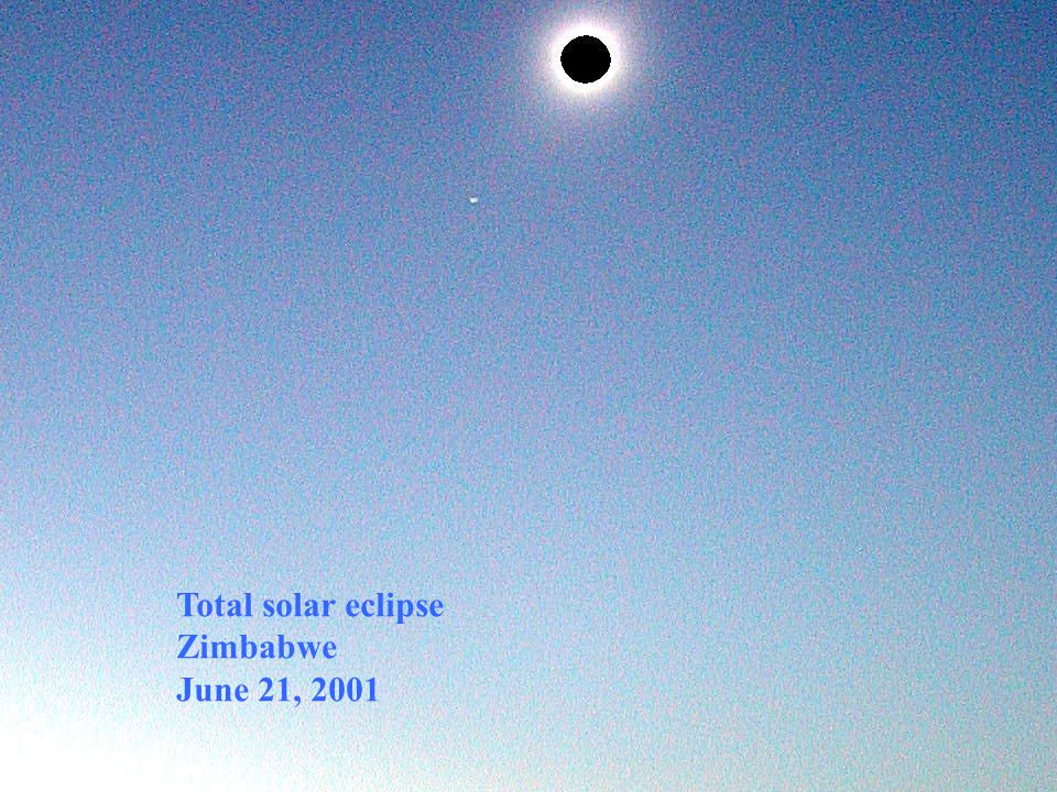 Total solar eclipse Zimbabwe June 21, 2001