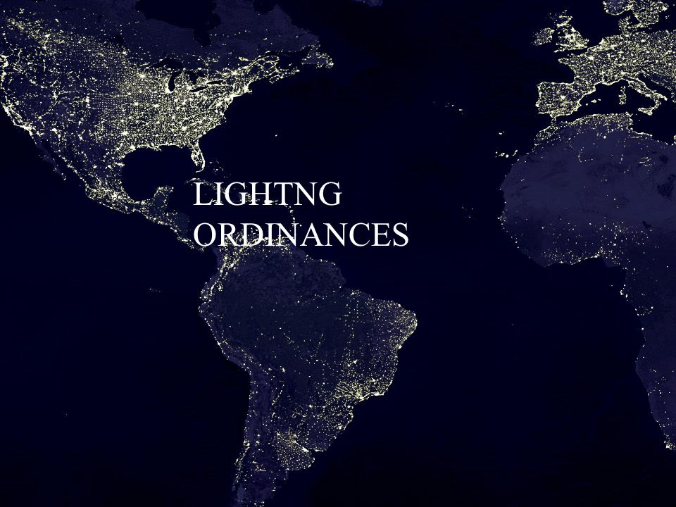 LIGHTNG ORDINANCES