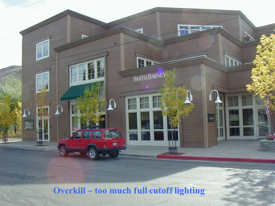 Overkill – too much full cutoff lighting