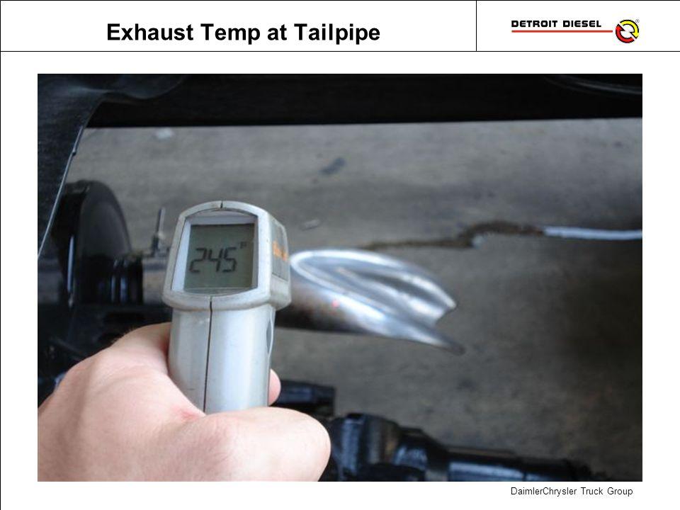 Exhaust Temp on Ground