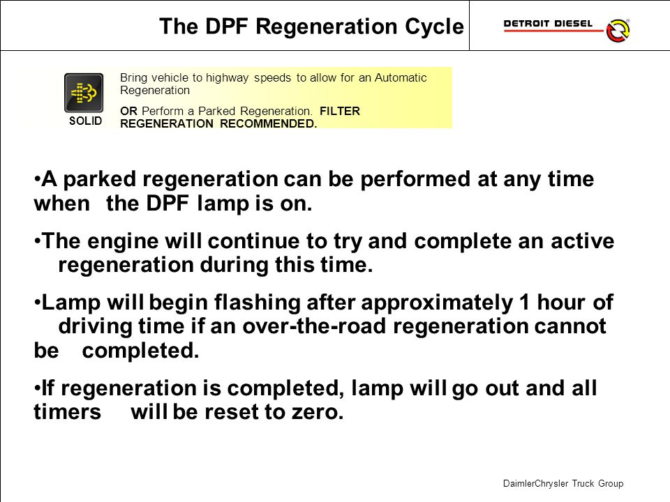 The DPF Regeneration Cycle