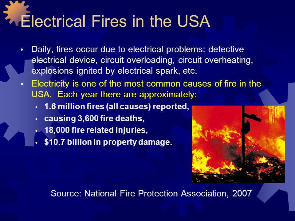 Electrical Fires in the USA