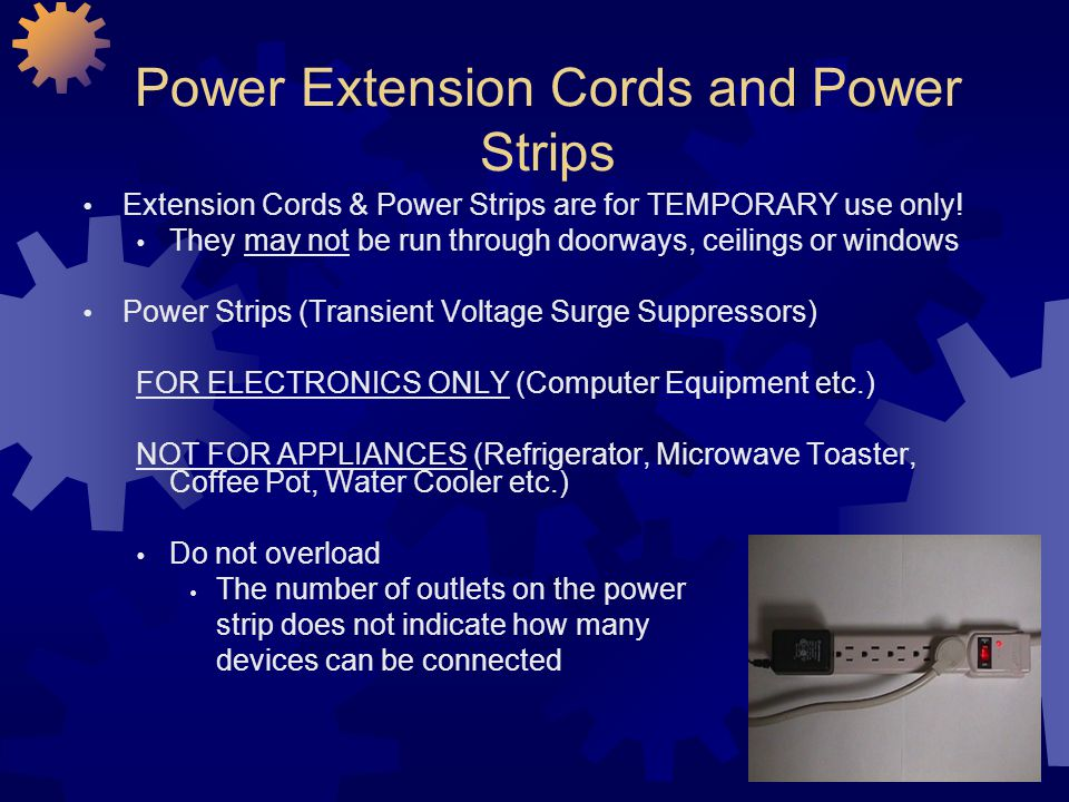 Power Extension Cords and Power Strips