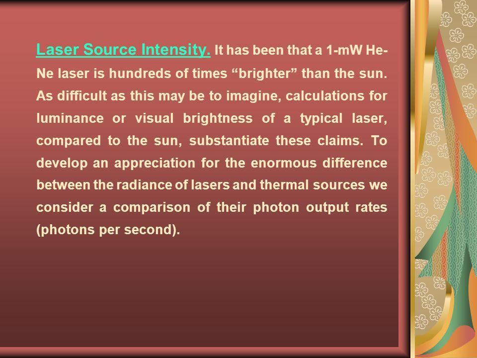 Laser Source Intensity