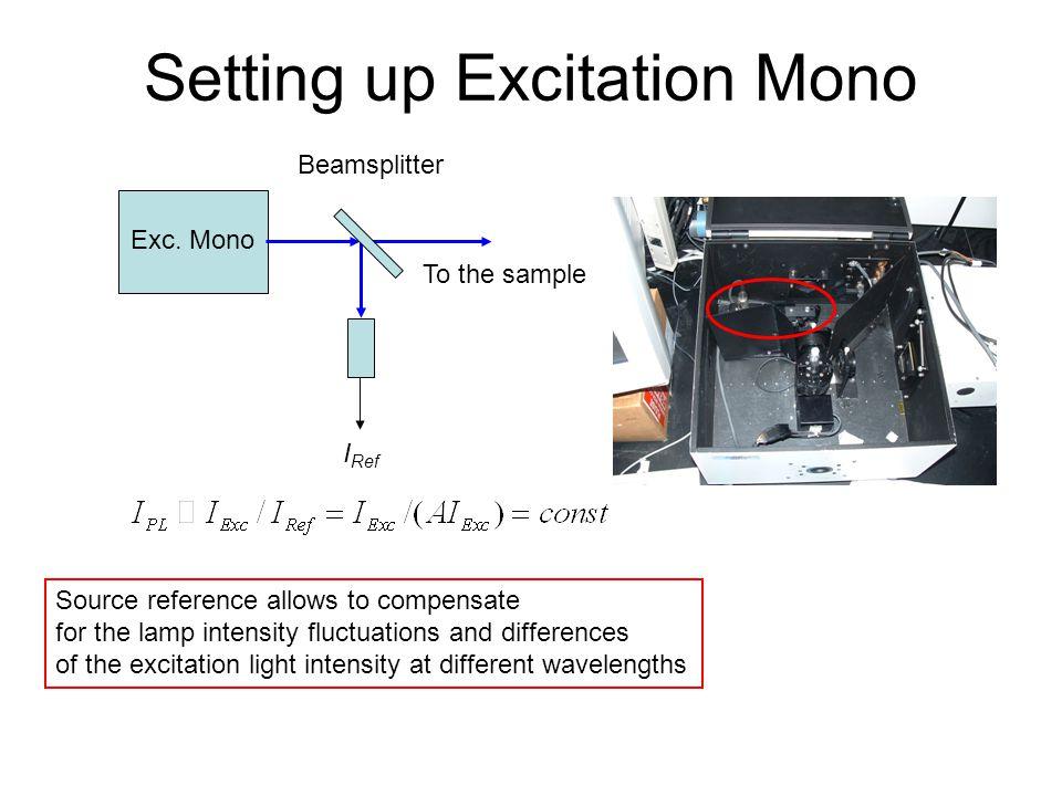 Setting up Excitation Mono