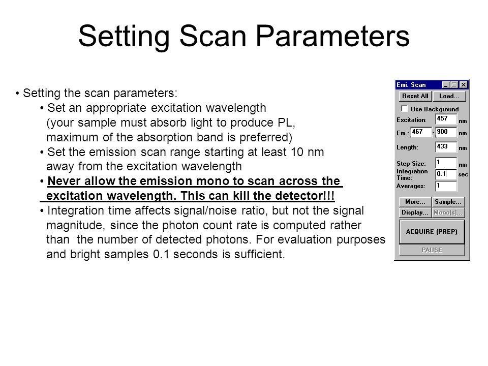 Setting Scan Parameters