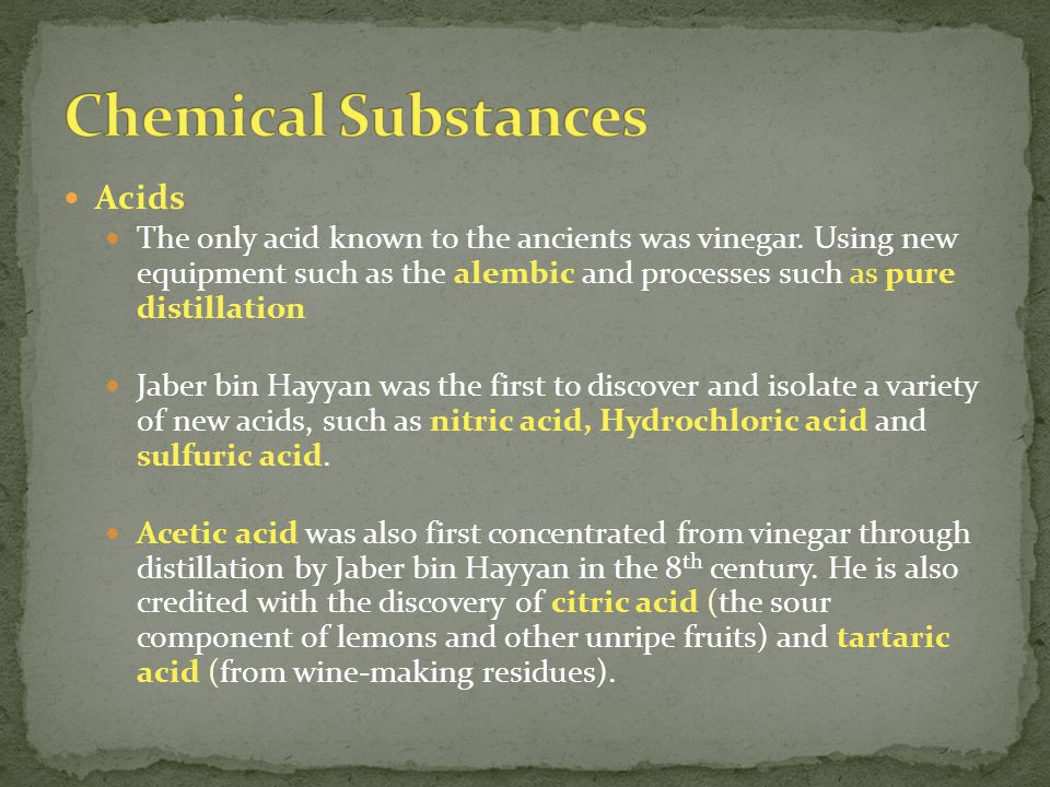 Chemical Substances Acids
