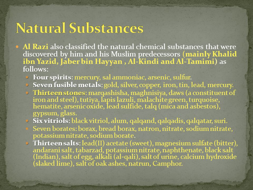 Natural Substances