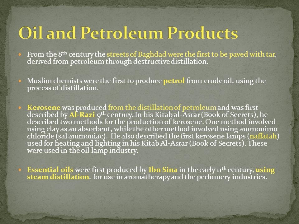 Oil and Petroleum Products