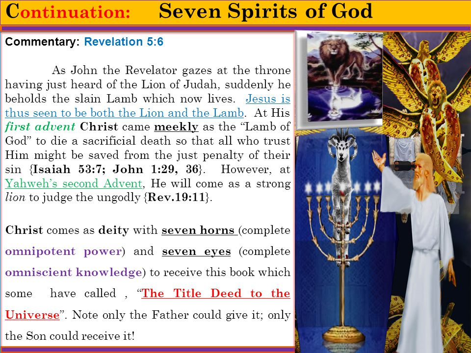 Continuation: Seven Spirits of God