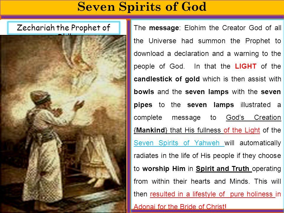 Zechariah the Prophet of Old!
